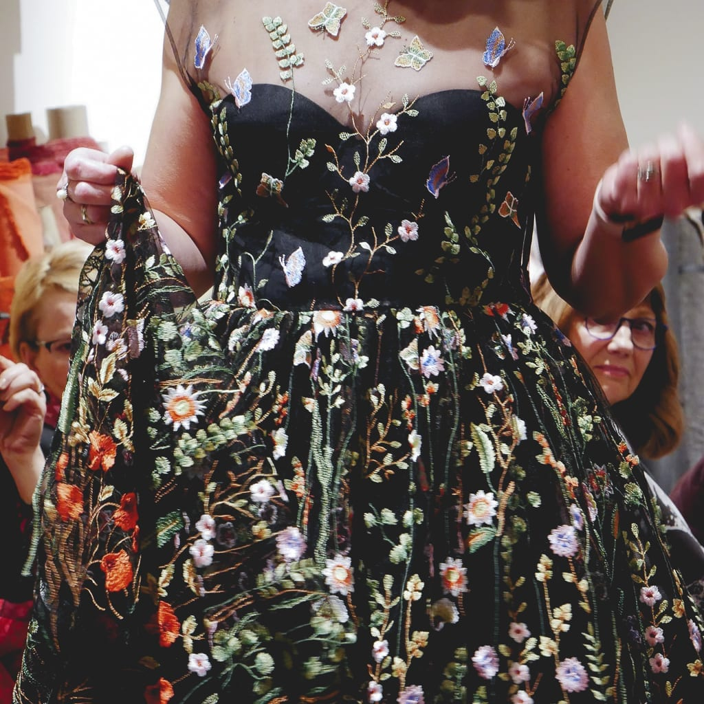 Embroidered mesh dress Kathryn Brenne