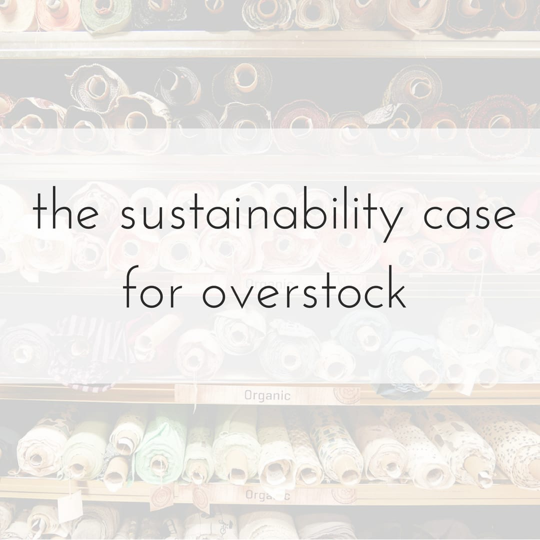 overstock fabric sustainability