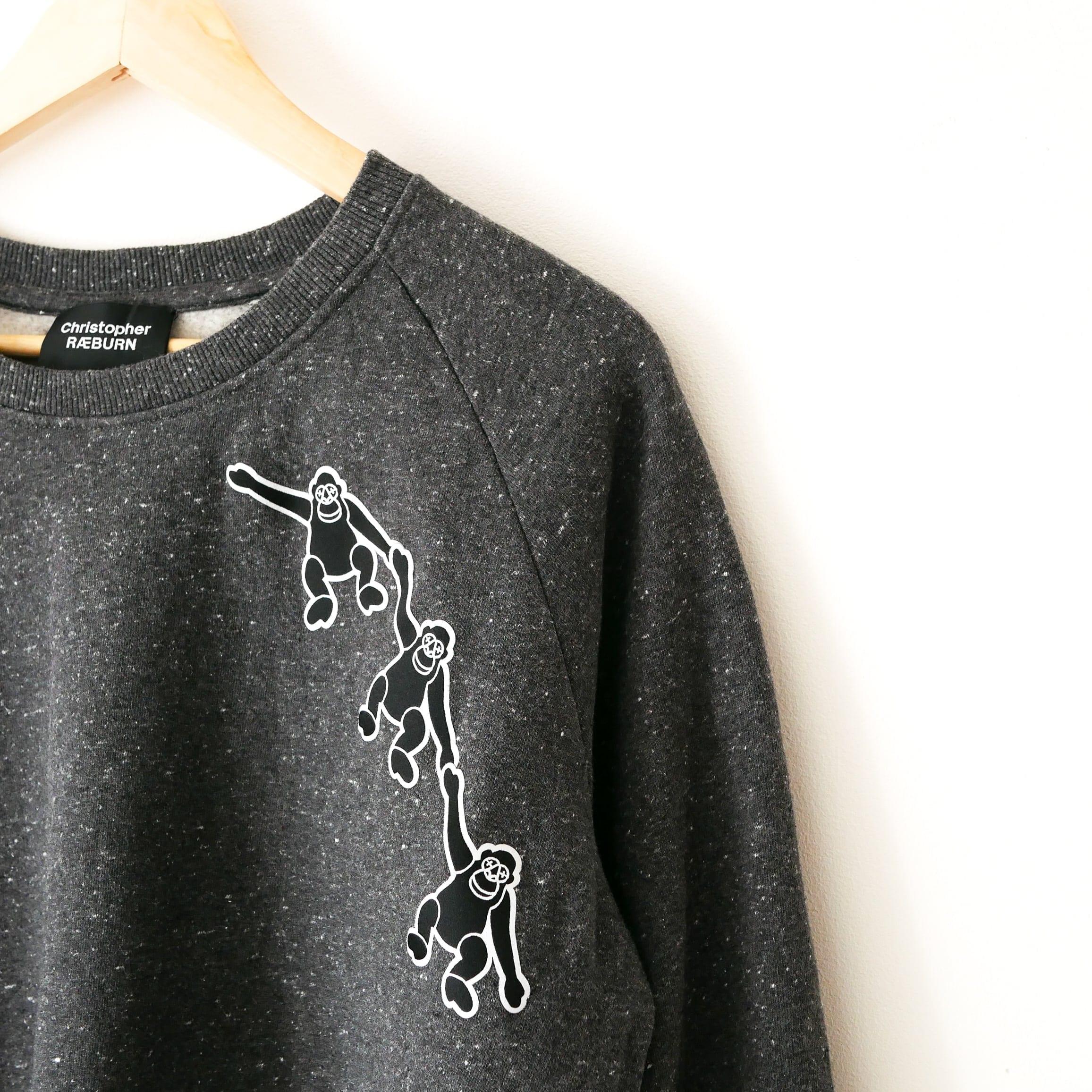 Christopher Raeburn monkeys custom sweater