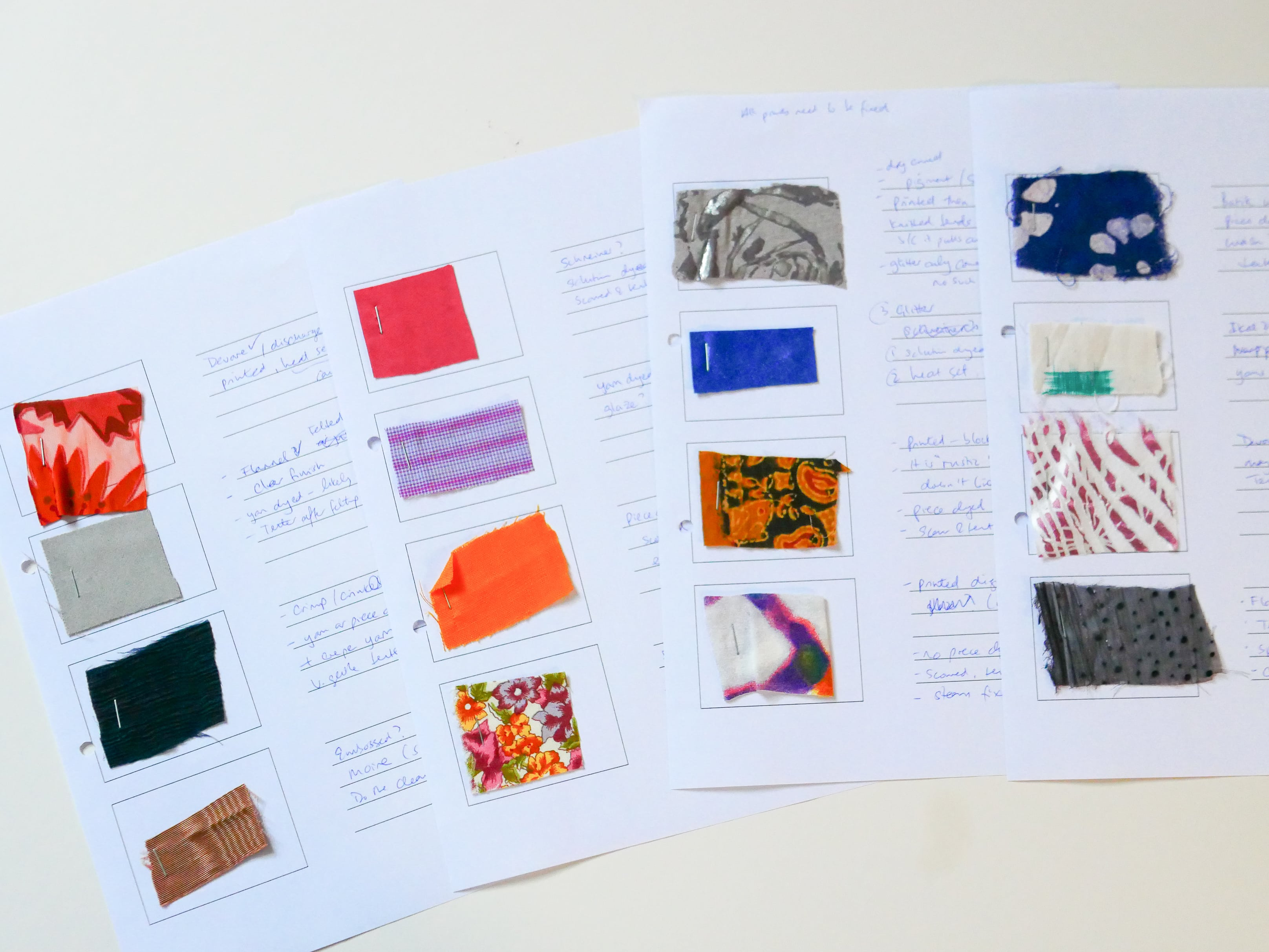workshop fabric samples