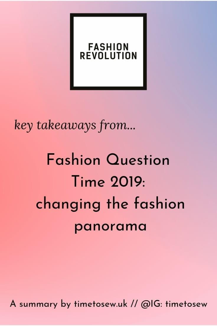 Fashion Question Time_ changing the fashion panorama