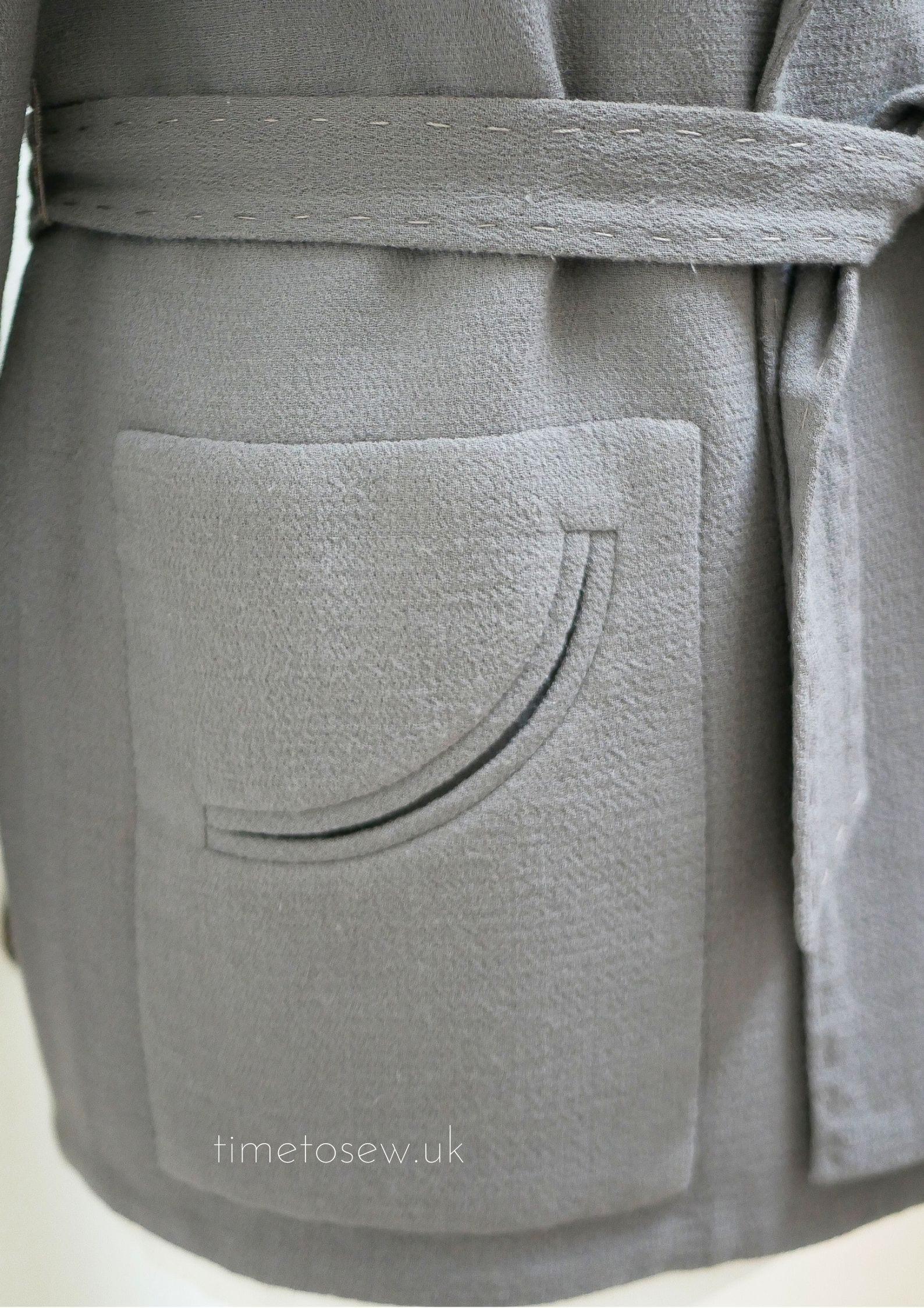 couture jacket finished pocket