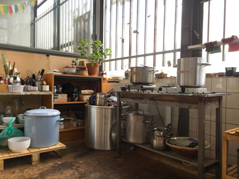 natural dye workshop setup