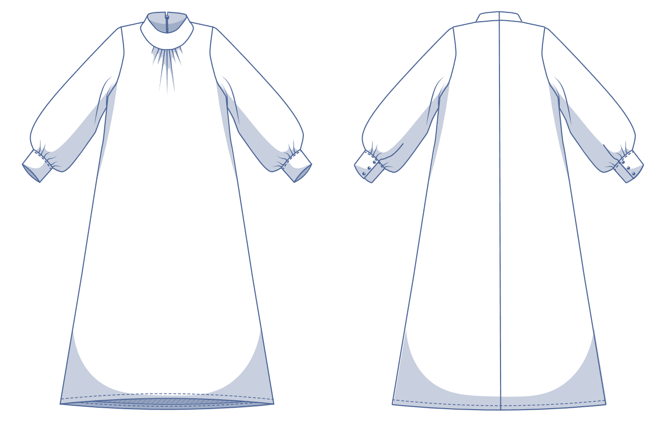 Line drawing taken from Fibre Mood instructions
