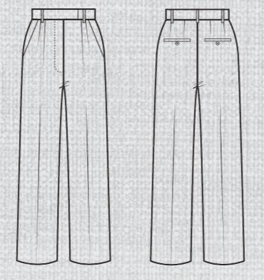 Just Patterns Tatjana trousers line drawing