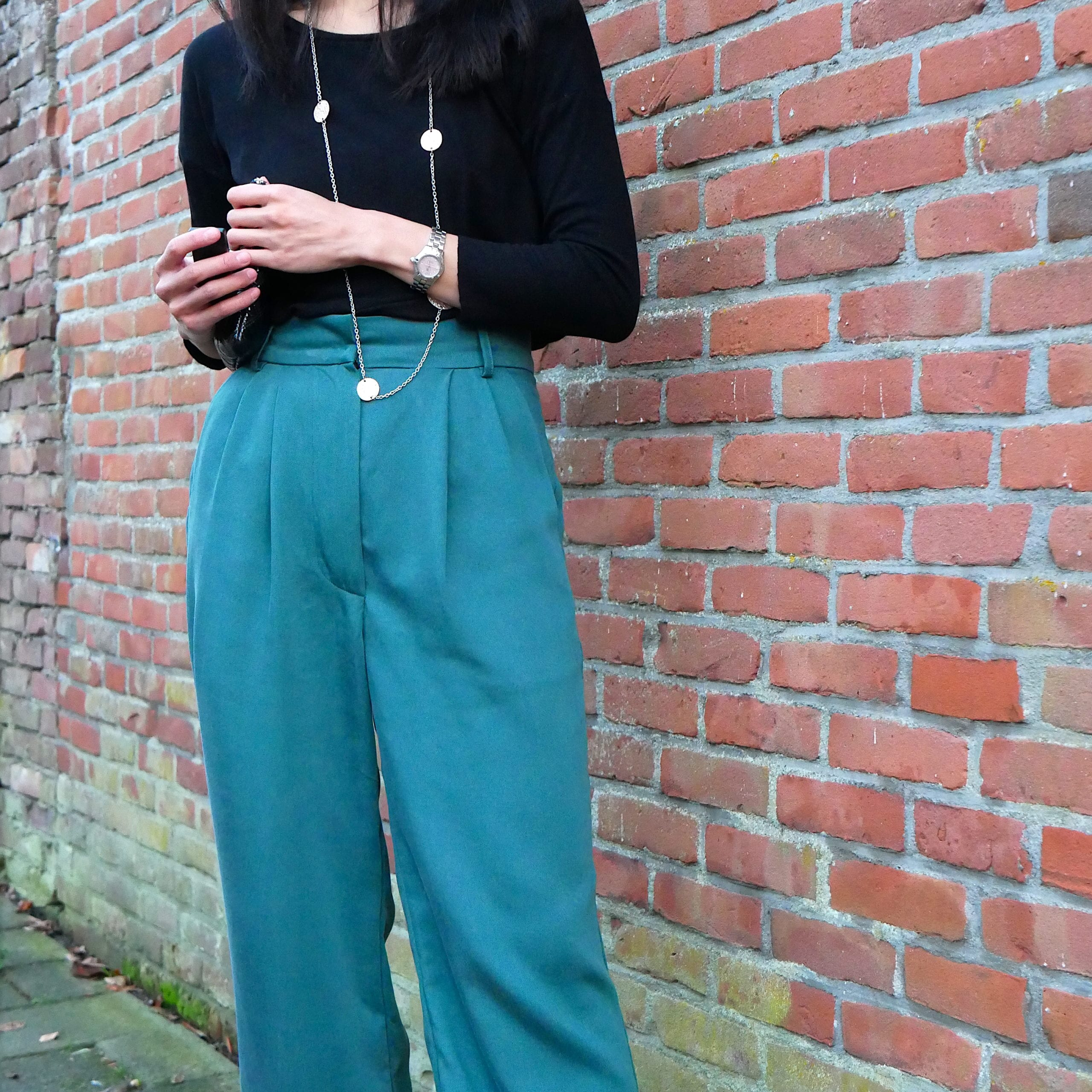 Just Patterns Tatjana trousers by Time to Sew - detailed front view