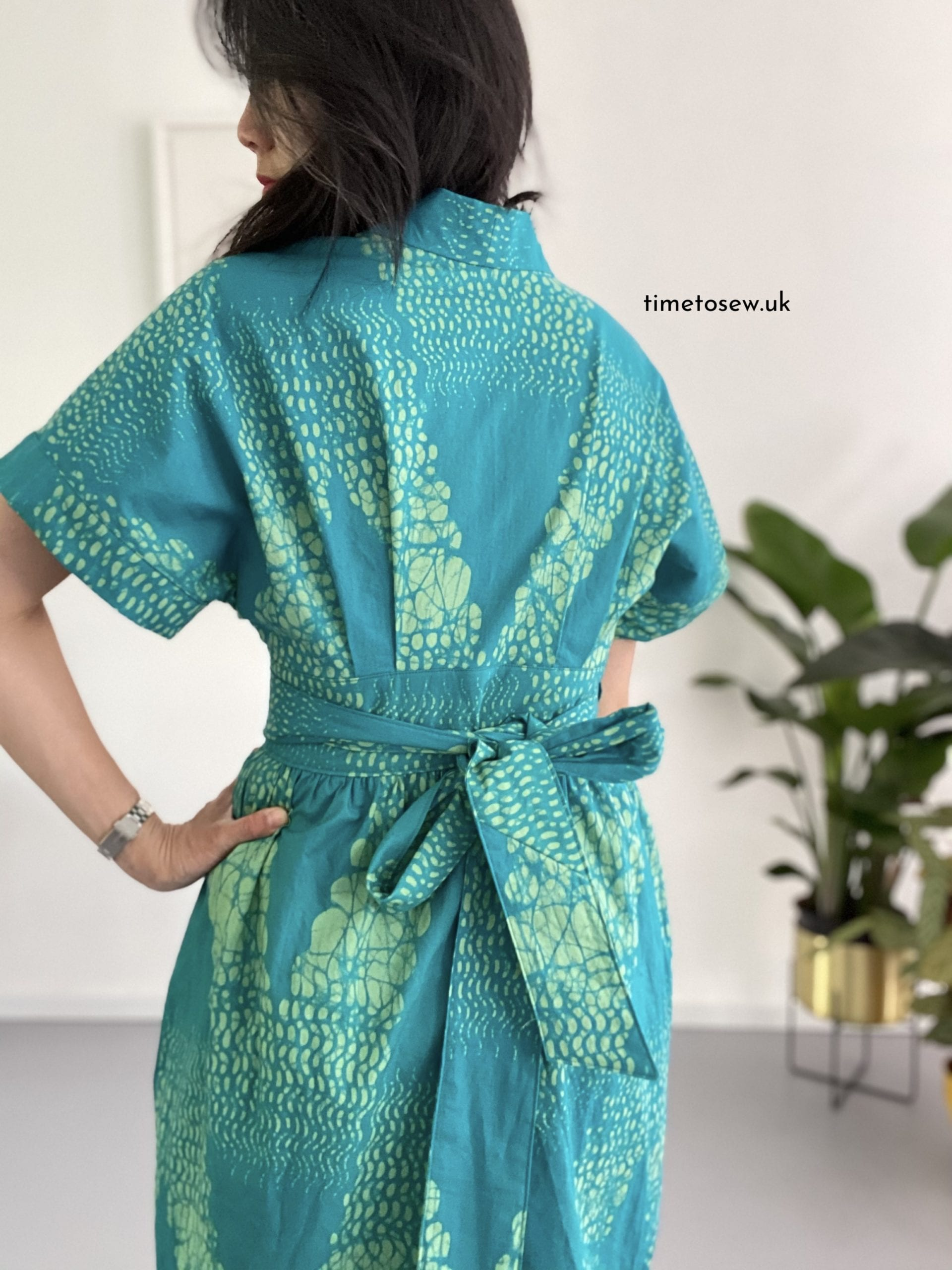Just Patterns Helena Wrap Dress by Time to Sew back view
