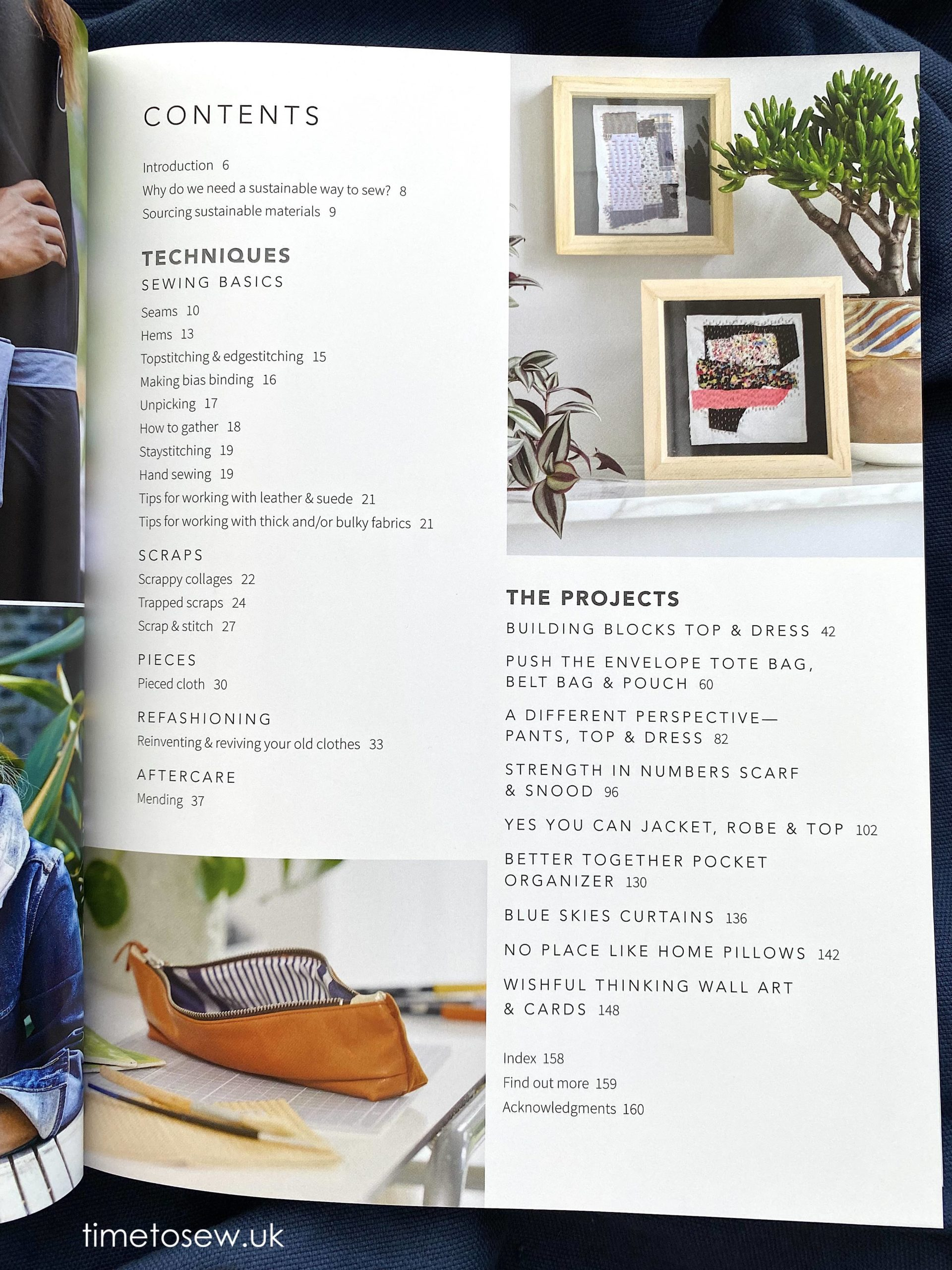 How to Sew Sustainably contents